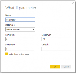 Power BI New-Parameter
